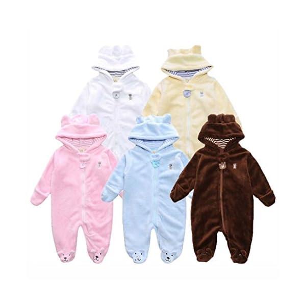 Amlaiworld Mono Bebé, Recién Nacido niño niña con Capucha Mono Otoño Invierno Oso Mameluco Ropa 0-9 Mes 2