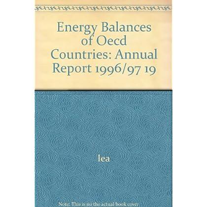 Bilans énergétiques des pays de l'OCDE 1996-1997. Edition 1999