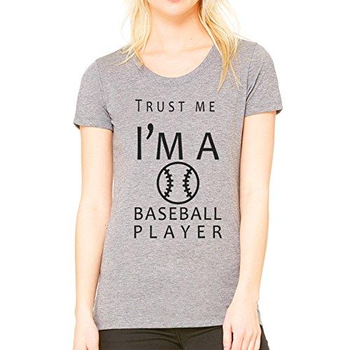 Trust Me I'm A Baseball Player Damen T-Shirt Grau