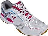 VICTOR SH-A320L Damenschuh / Indoor Sportschuh / Badmintonschuh / Squashschuh / Hallenschuh, Weiß/Pink, Größe 37,5
