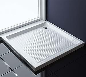 80x80x6 cm design duschtasse faro1ar in wei mit anti rutsch profil duschwanne acrylwanne. Black Bedroom Furniture Sets. Home Design Ideas