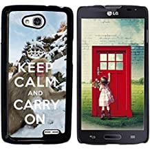 Print Motif Coque de protection Case Cover // Q01015493 keep calm and carry on 740 // LG Optimus L90 D415