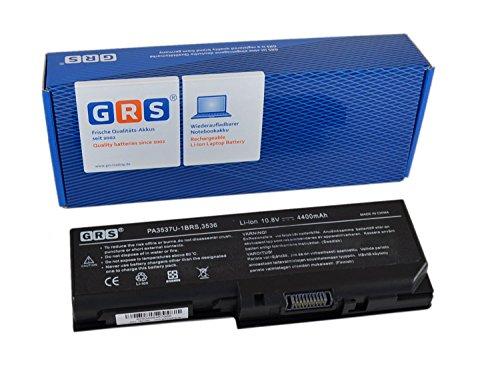 GRS Batterie d'Ordinateur Portable fç ¬ R Toshiba Satellite P200, L355, L350, P205, X200, X205, P305, remplace : PA3537U-1BRS PA3817U-1BAS, PA3537U-1BRS, PABAS100, PABAS101, ordinateur portable Batterie 4400 mAh, 10,8 V