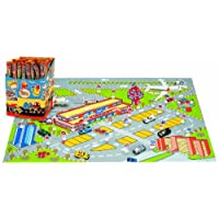 AVC AVC858 103 x 63 cm Airport City Playmat with 4 Cars and 2 Planes (34-Piece)
