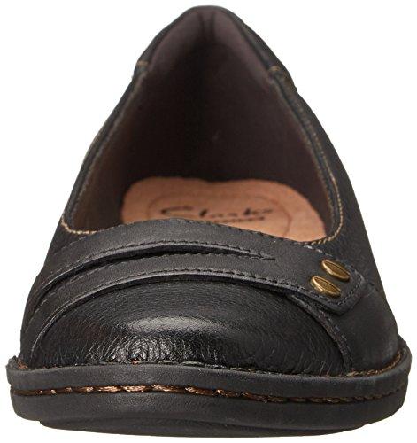 Clarks Pegg Abbie piatto Black Leather