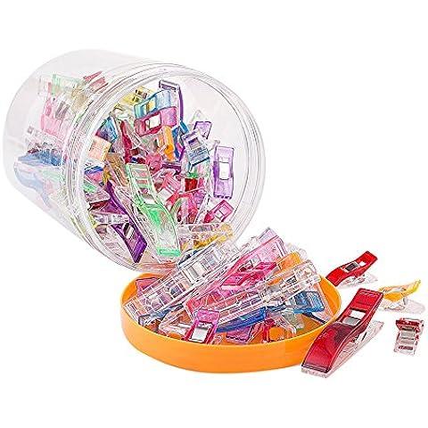 Rechel clip 100(75+ 25) tutte le scopo clip clip, ideale come cucito, quilting clip & More. Cucito Accessori, Clip Quilt Strumenti