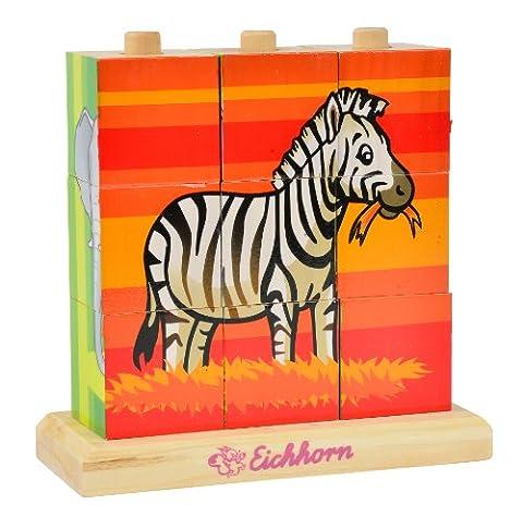 Eichhorn 1000036239-cube photo puzzle en bois