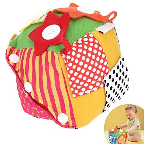 OZUAR Baby Soft Blocks Multifunktionale lernen, Würfel Spielzeug für Kleinkind Kinder Early Education Dress (Baby-blöcke)