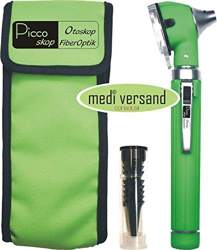 Otoskop F.O. Fiberoptik mit Zubehör Farbe grün