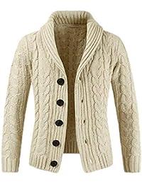 e32c4a9acdaf9d Keephen Herren Langarm Pullover Revers Strickjacke Button Knit Sweater