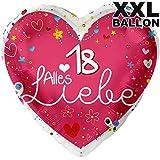 Alles Liebe 18 XXL Ø 71cm | Folien Ballon Zum 18. Geburtstag | Helium Geeignet