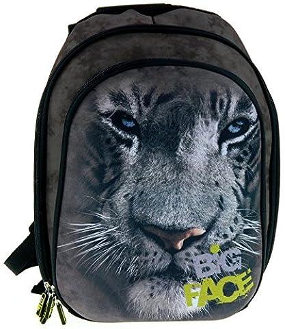 Maxi&Mini - THE MOUNTAIN / BIG FACE TIGRE SAC A DOS CARTABLE - NOUVEAUTÉ PHOTO ANIMAL TIGER