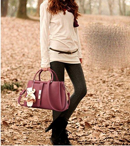 LAIDAYE Womens Weiche Leder Handtaschen Multicolor Schultertasche Reise Totes 2