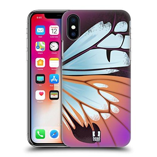 Head Case Designs Monarca Illustrazioni Di Ali Di Farfalla Cover Retro Rigida per Apple iPhone X Parantica Sita