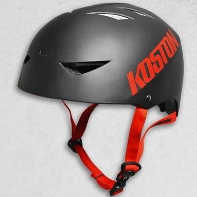 Koston Skateboard / Scooter / Inliner / Rollschuh Schutz Helm - Schwarz - Bmx, Inliner, Longboard Helm - Schutzausrüstung Skateboard Helm, Grösse:S