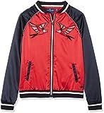 TOM TAILOR für Mädchen Jacken & Jackets Bomberjacke mit Vogel-Artwork Pinky red, 176