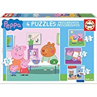 Peppa Pig - Puzzle progresivo, 12, 16, 20, 25 piezas (Educa Borrás 16817.0) - Peluches y Puzzles precios baratos