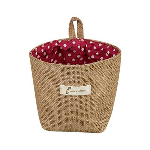 Doitsa Tuch Beutel Blumentöpfe Lagerung mit Haken Pflanzkübel Hängender Korb, Multifunktion Lagerung Korb für Kleidung Zubehör C (Hängende Lagerung-körbe)