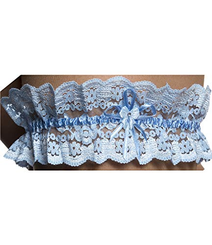Brautkleid Dessous (Damen Strapsband Hochzeit Spitze Brautkleid Dessous Accessoires Blaues Weißes Rotes Modell 1 Blau Einheitsgröße)