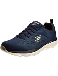 Skechers Men's Skech Air Game Changer Black And Orange Mesh Multisport Training Shoes