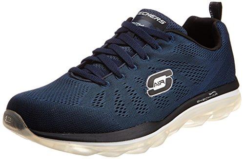 Skechers-Mens-Skech-Air-Game-Changer-Black-and-Orange-Mesh-Multisport-Training-Shoes