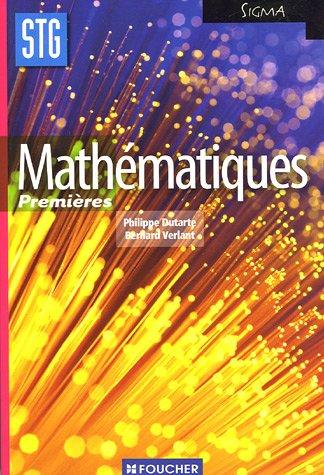 Mathématiques 1e STG