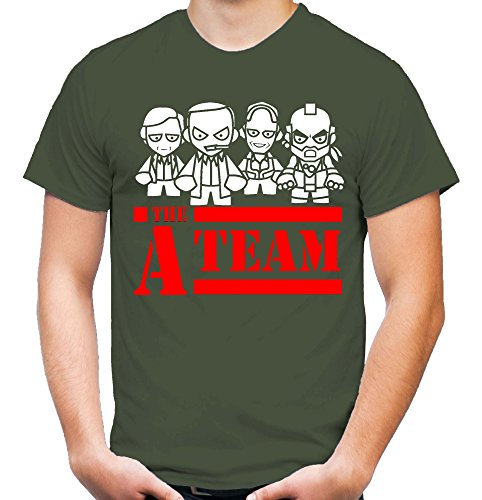 A-Team Männer und Herren T-Shirt | Spruch Hannibal B. A. Geschenk M3 (XL, Olive)