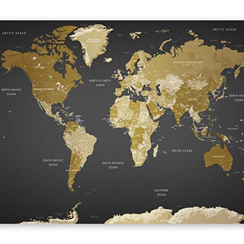 murando Papier peint intissé 350x256 cm Décoration Murale XXL Poster Tableaux Muraux Tapisserie Photo Trompe l'oeil XXL Carte du Monde Continente k-A-0092-a-a