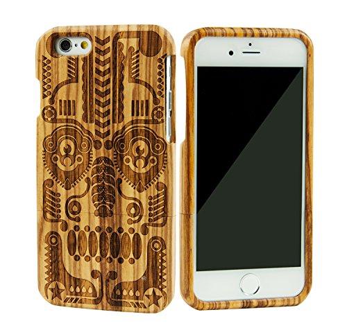 SunSmart Einzigartigen, handgefertigten Original Natural Wood Holzfest Bambus Case/Hülle/Tasche für iPhone 6 4.7''(maske) maske