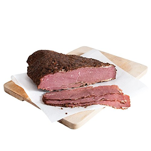 Die Premium Alternative zu Schinken und Salami: Original American Rinderbrust Pastrami Brisket im würzigen New York Style - saftiger Sandwichbelag oder Aufschnitt – 1 Kg mit Kühlboxversand