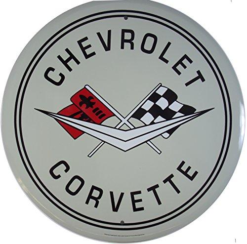 chevrolet-corvette-auto-targa-placca-metallo-piatto-nuovo-31x31cm-vs051-1