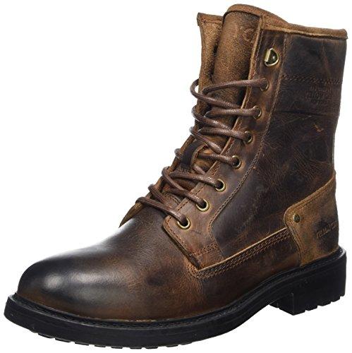 Yellow Cab Herren Defend Biker Boots, Braun (Tan), 43 EU