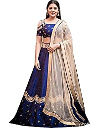 Sai Creation Silk Blue Party Wear Salwar Suit In Bollywood Style With Heavy Embroidery Work Beige Dupatta