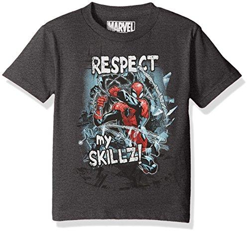 Marvel Big Boys' Spider-Man T-Shirt, Charcoal Heather, X-LARGE (Bekleidung Charcoal Big Kids)