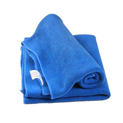 Gesichts Haar sauberes Auto Polieren Streifen Freies Tuch Tuch Blau