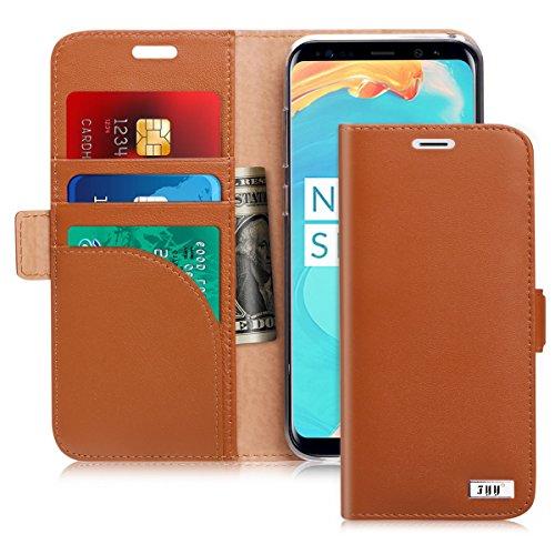 Galaxy S8Fall, fyy [RFID-blockierender Wallet] Premium PU Leder 100% Handarbeit Wallet Case Kreditkarte Displayschutzfolie für Samsung Galaxy S8