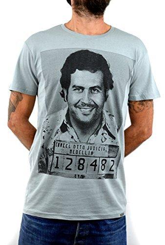 Pablo Escobar Faces T-Shirt Herren Handserigraphie mit Wasser. (L Herren)