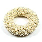Serviettenring mit Perlen, cremeweiß, Ø 7 cm