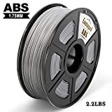 Filamento impresora 3D Enotepad ABS, filamento ABS 1.75 mm 1 kg, precisión dimensional 1.75 ± 0.02 mm, impresoras 3D ABS plata