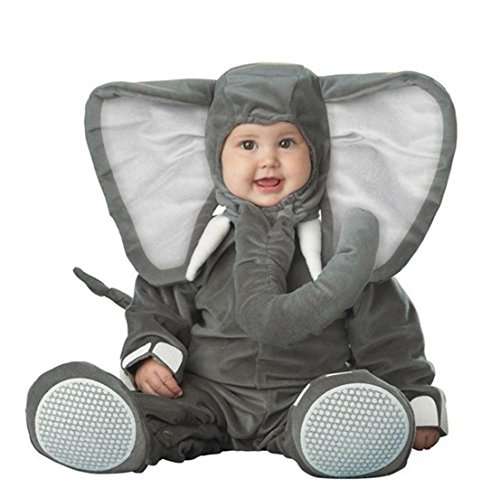 Kenmont bambino piccolo bambino infantile pagliaccetto animale costume tute foto prop outfits natale halloween outwear body (elefante, 80)