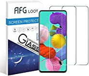 AFGLOOY 2Pack, Screen Protector Compatible with Galaxy A51, Tempered Glass for Samsung Galaxy A51, 9H Hardness