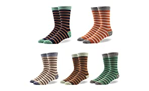 Mens Socks Cotton Rich, RioRiva Men's Dress Colourful Patterned Luxury Designer Socks, Striped Argyle Dotted etc, Size UK 7-14, Multipack.