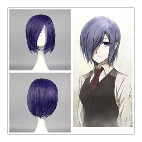 Cosplay Kostüm Touka - COSPLAZA Perücke Tokyo Ghoul Toka Kirishima Touka Kirishima kurz Volett Lila Anime Cosplay Wig Mädchen Haarteil