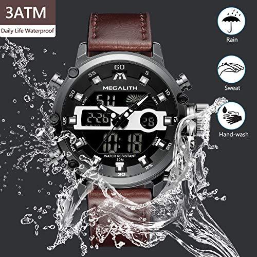 ac7f39f5f3e784 Orologio Uomo Orologi Militari Sport Impermeabile Cronografo LED Quadrante  Grande Analogico Digitale.