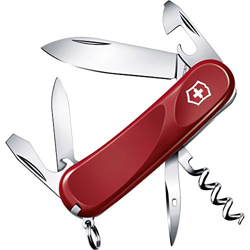 Victorinox Taschenmesser Evolution 10 (13 Funktionen, Feststellklinge, Schraubendreher) rot -