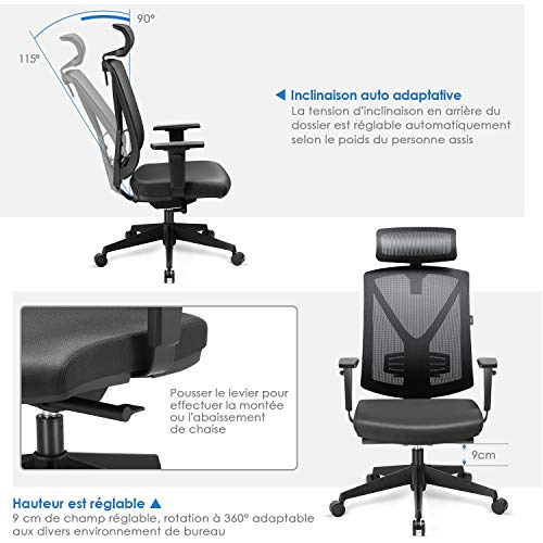 Zoom IMG-3 intey sedia ufficio altezza regolabile