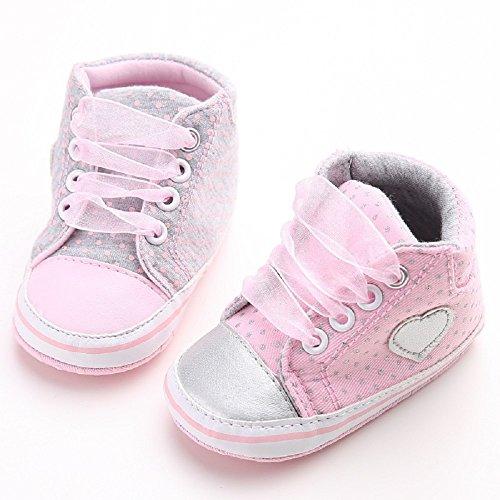 best sneakers 04ceb 3c7d3 Auxma Baby Mädchen Segeltuch Schuhe Kinderschuhe Hausschuhe weich  Rutschfeste Sohle (12CM  6~ 12 ...