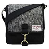 Damen oder Herren Traditionelle Harris Tweed und Canvas Messenger Bag in Farbe und Design