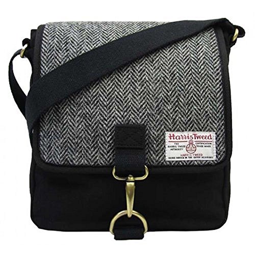 Damen oder Herren Traditionelle Harris Tweed und Canvas Messenger Bag in Farbe...