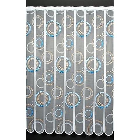 Tenda della finestra Ricciolo altezza 150 cm | Laò scegliere la larghezza in segmenti da 11 cm, come vuole | Colore: Blu; h